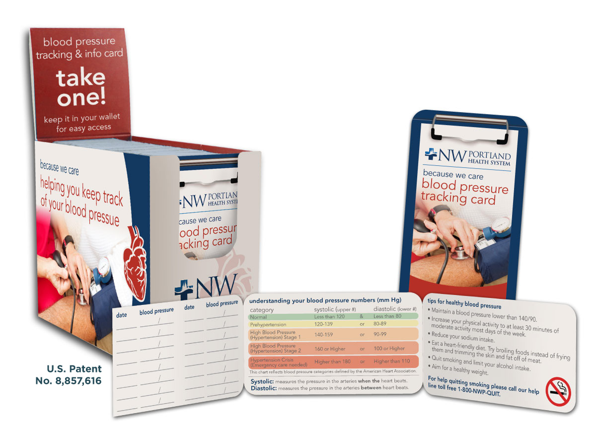 Blood Pressure Tracking ID Cards | ASI Business Group