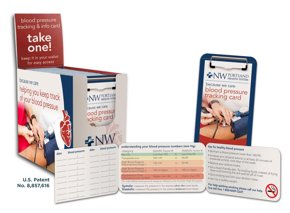 Blood Pressure Folding Medical ID Card