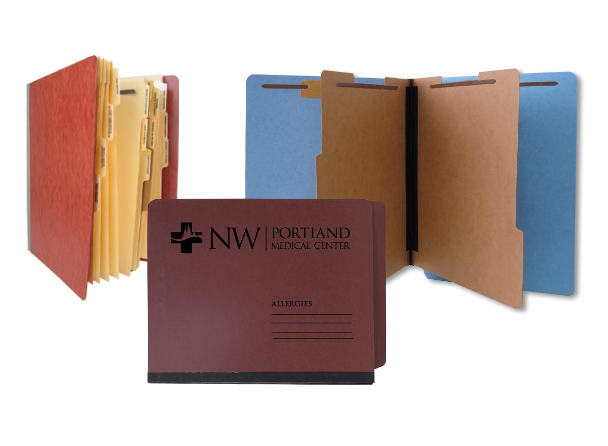 Pressboard filing folders