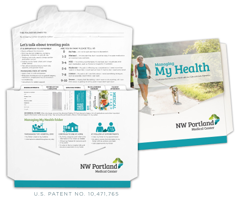 custom patient discharge folders